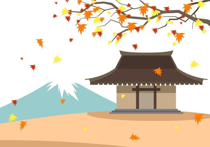 Japanska Höstfri Vektor