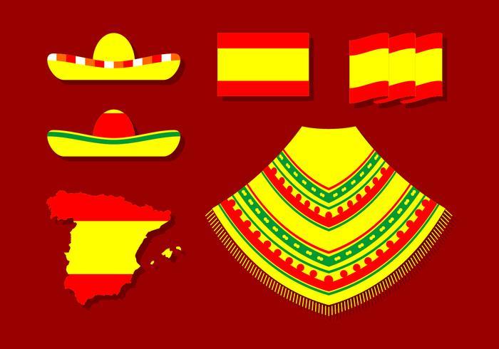 Vettore libero del poncho spagnolo