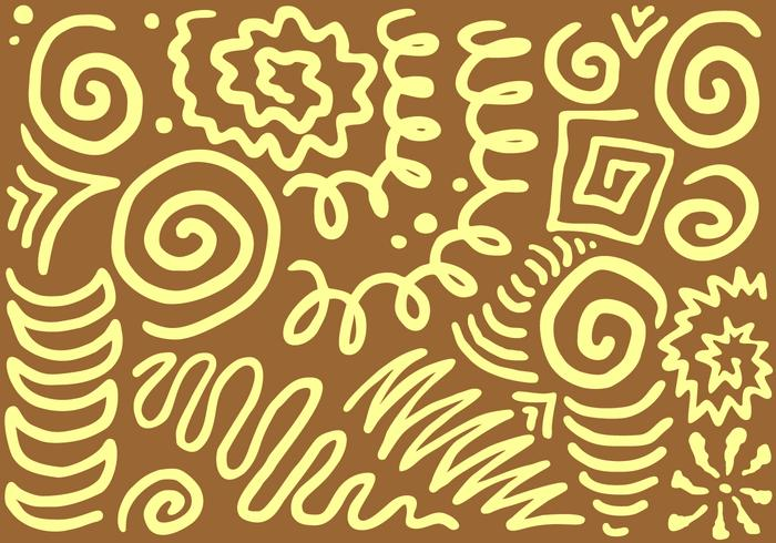 Complicated Squiggle Free Vector