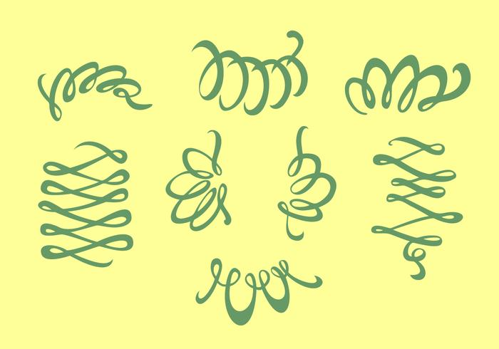 Tendrils Squiggle Free Vector