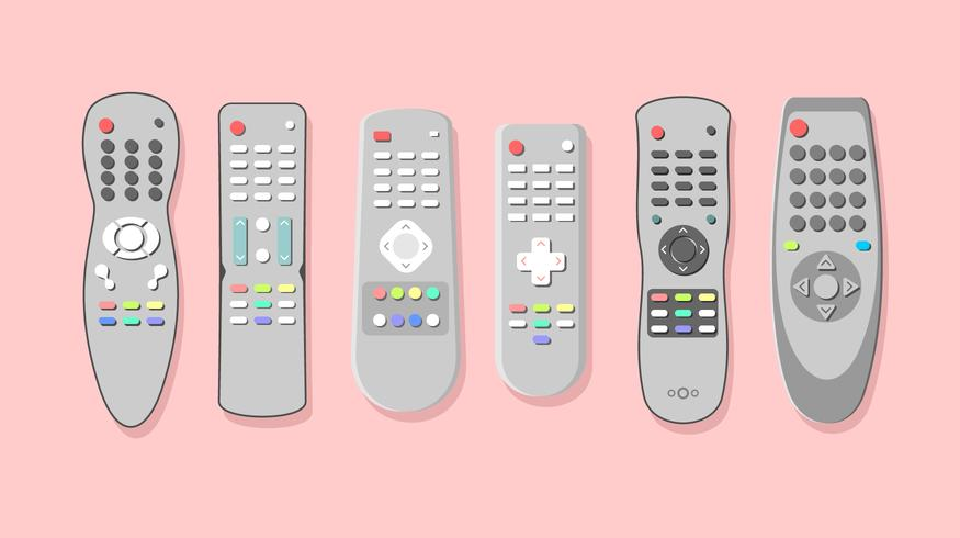 Silver TV Remote gratis vector