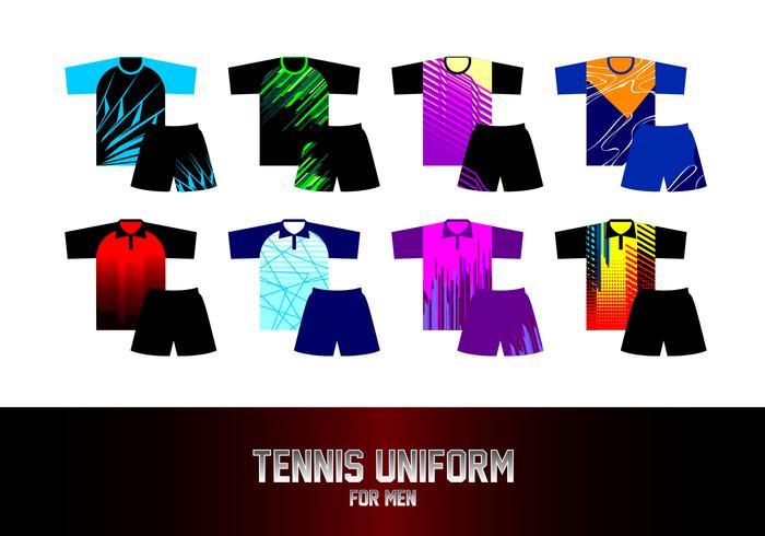 Tennis-Uniform für Männer geben Vektor frei