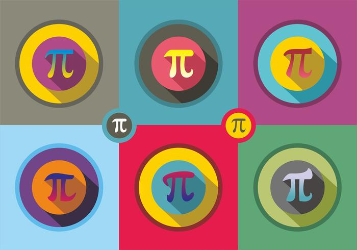 Pi-symbool Vector iconen