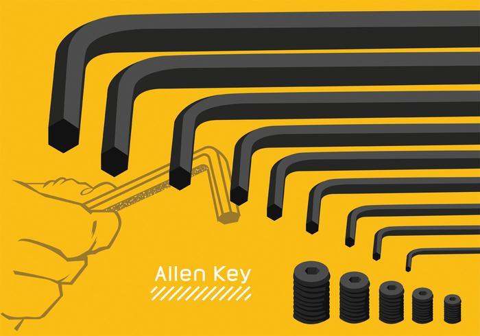 arte vettoriale chiave a brugola