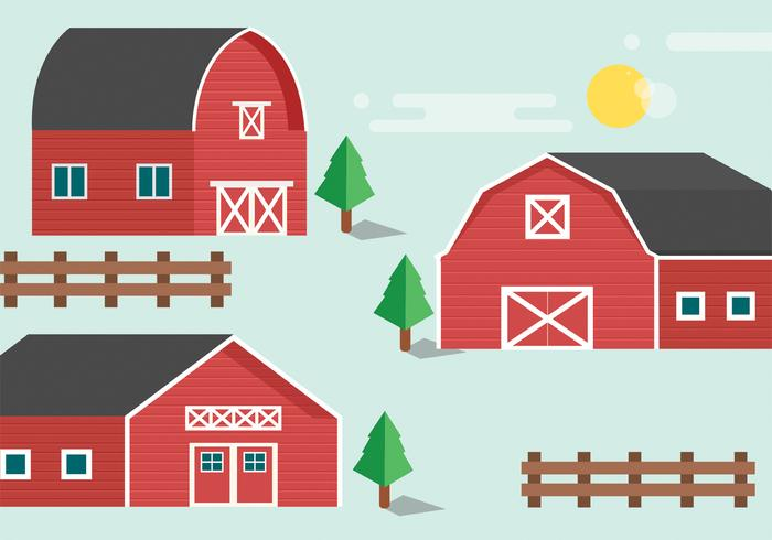 Red Barn Vector Pack