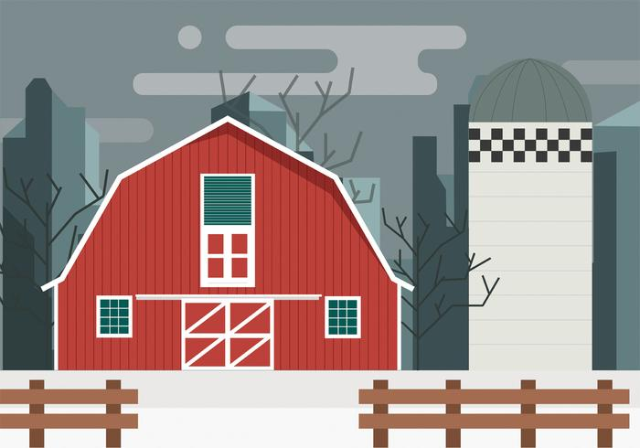 Red Barn Vector Design