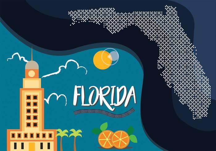 Florida-Karten-Vektor-Design
