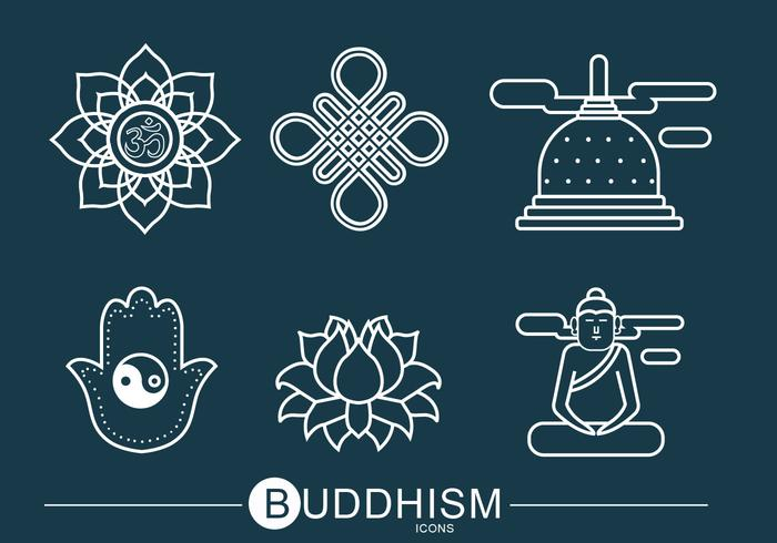 Buddhism Icon Vector Pack