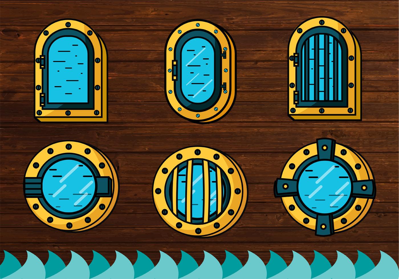 Ship window vector design download free vector art for Window design vector