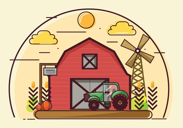 Farm och Barn Vector Design