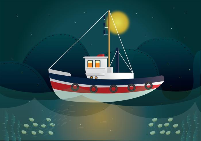 trawler vector ontwerp