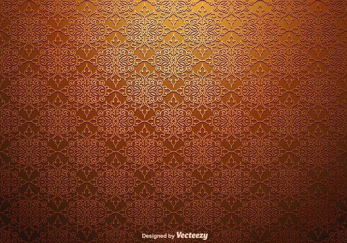 Vektor-nahtloses Blumendamast-Muster vektor