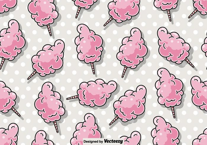 Vector Seamless Candy Floss Pattern