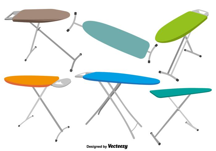 Vector Ironing Table Icons