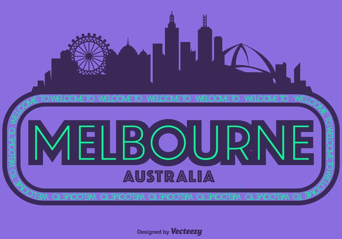 Vector Illustratie Van Melbourne City Skyline