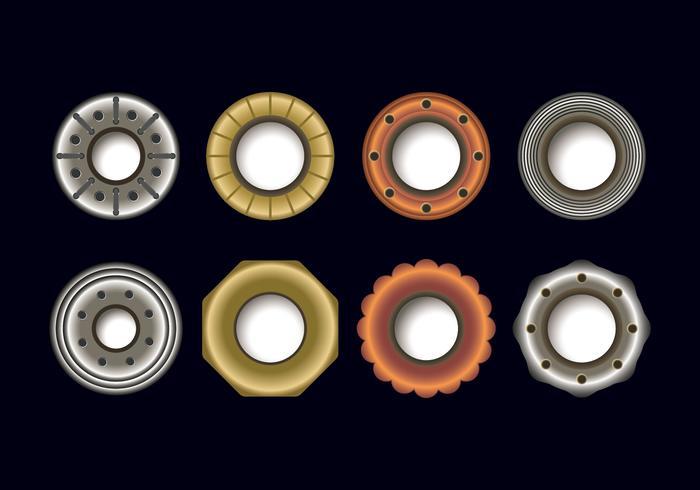 Metallic Eyelet Vector Set