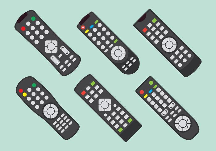 Conjunto de control de TV Remot vector