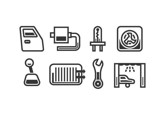 Automotive vector pictogrammen