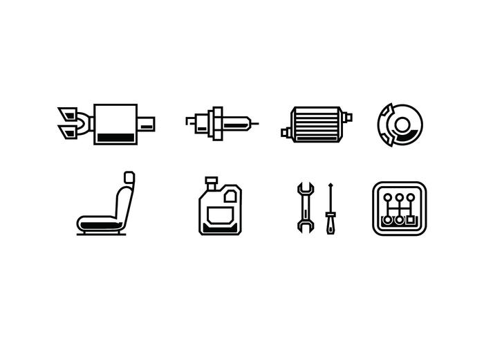 Automotive vector icons