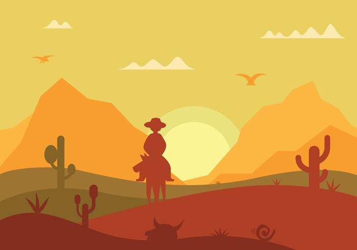 Gaucho silhouette vector illustration