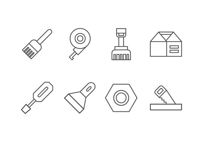 Handgemachte, DIY, Bricolage-Werkzeug-Satz-Ikone