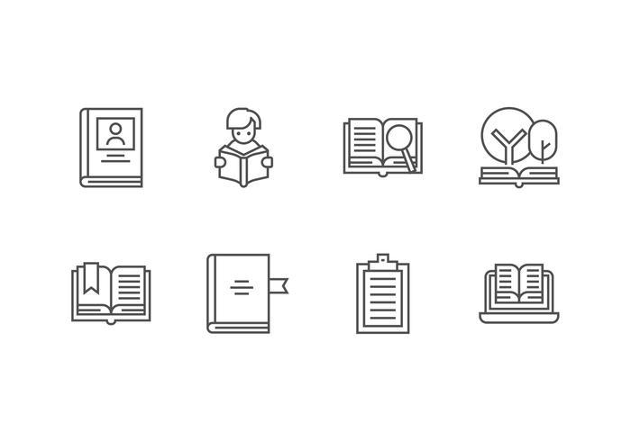 Libro ingesteld vector pictogram