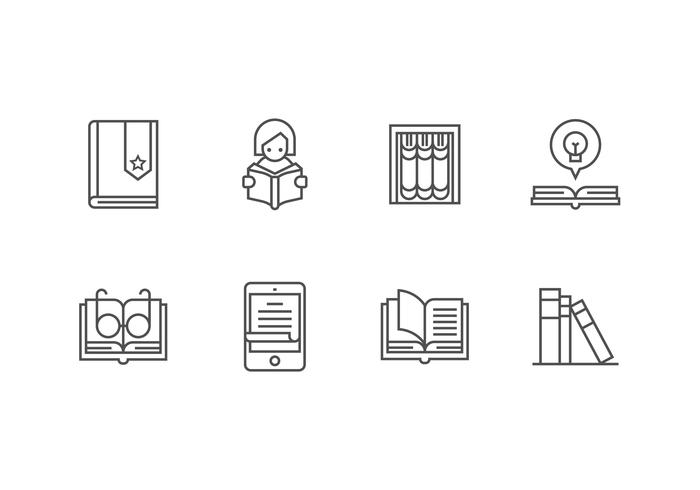 Libro set vector icon