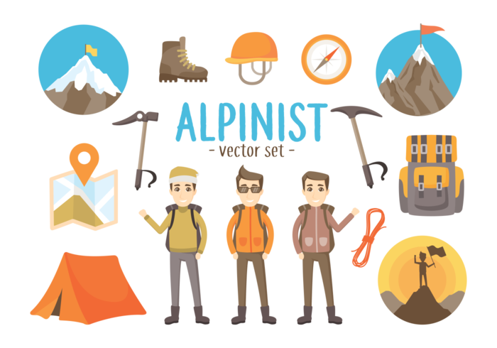 Alpinist Tools Vector Illustrations