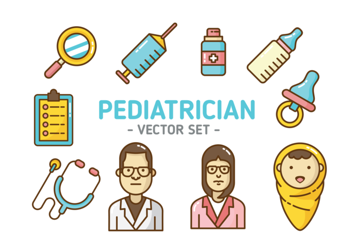 Pediatra iconos Vector
