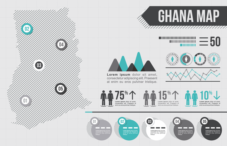 Ghana Map Infographic