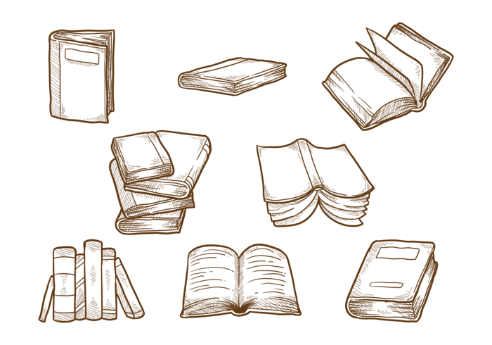 Libro dibujado a mano vector