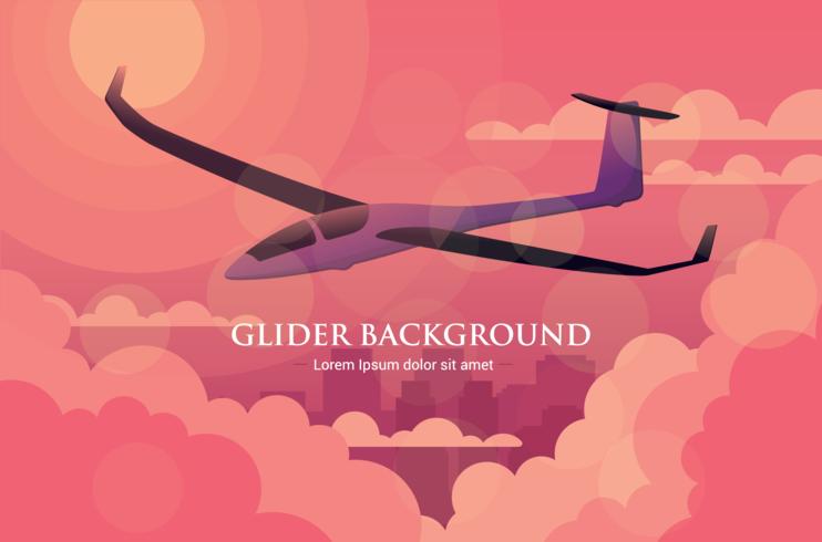 Ilustración del vector del planeador