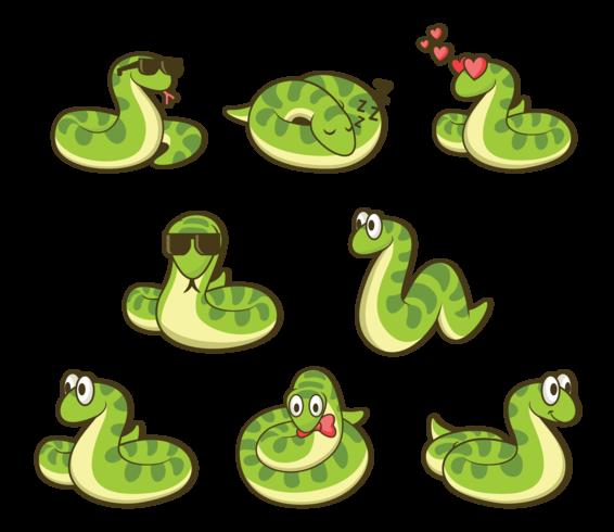 vettore del fumetto di anaconda