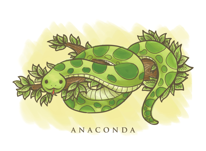 Anaconda Cartoon Illustration