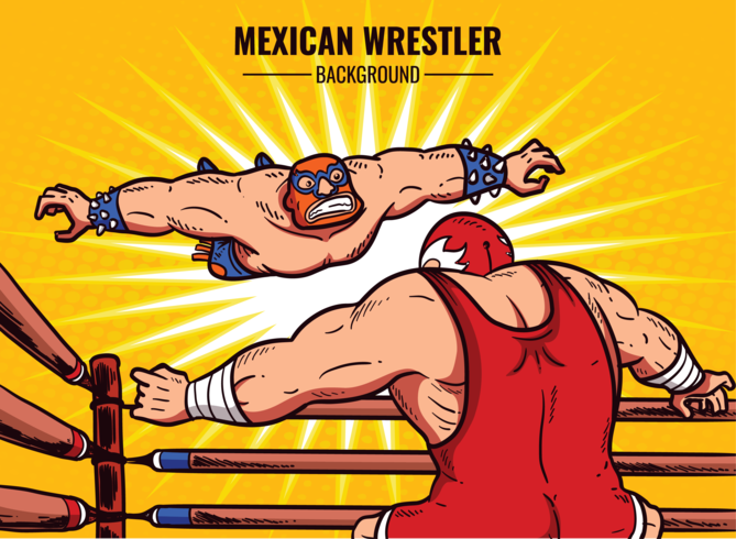 Mexicaanse worstelaar Cartoon afbeelding