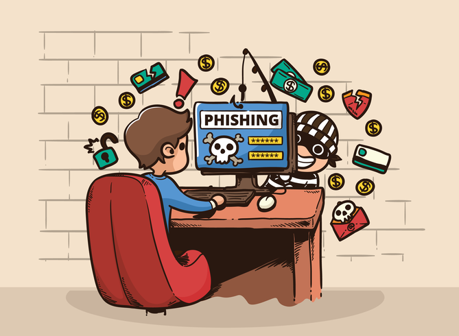 hacker phishing-dator illustration