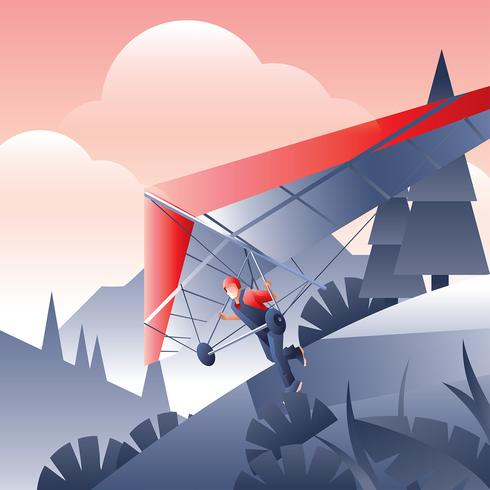 Hang Glider Take Off Free Vector