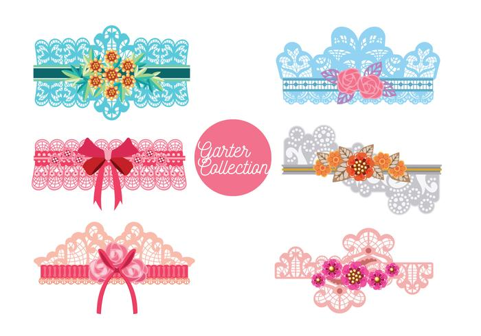 Beautiful Garter Collection Vector