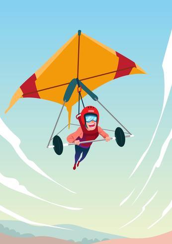 Man On Hang Glider