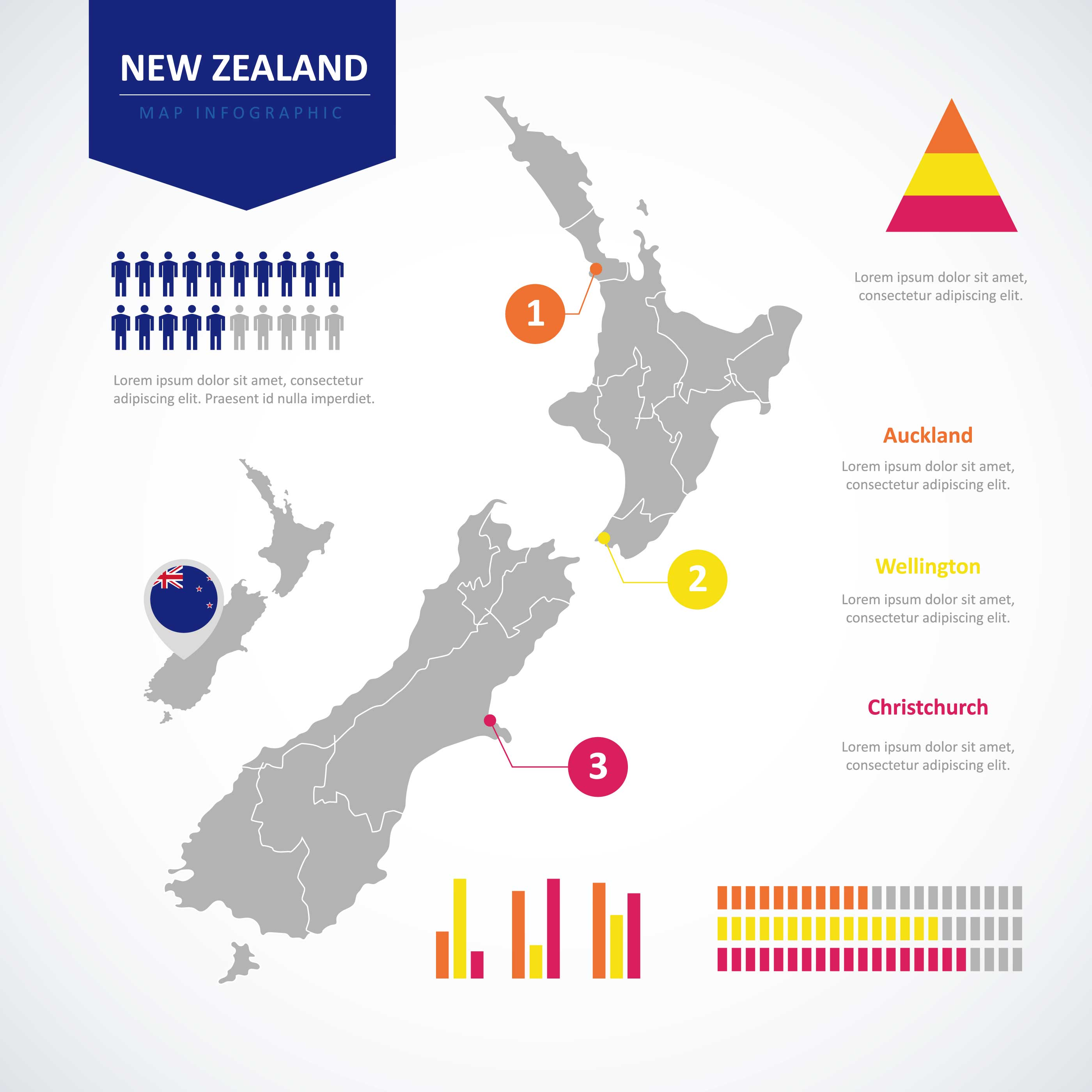 Line Drawing New Zealand Map : New zealand map infographic download free vector art