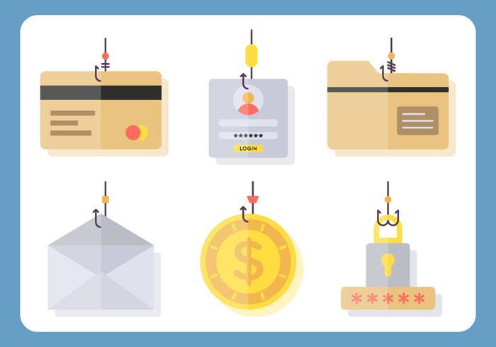 Iconische phishing-vectoren