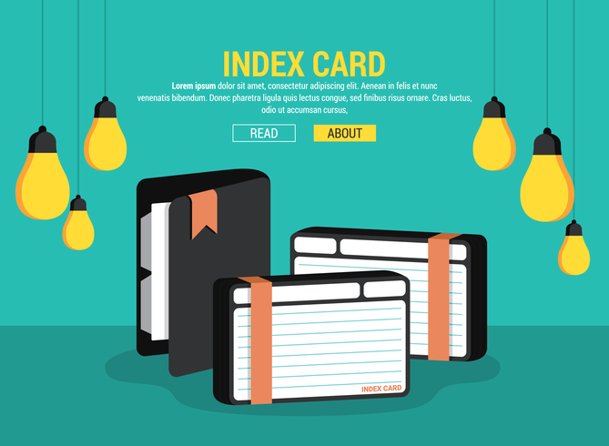 Index Card Vector Illustration