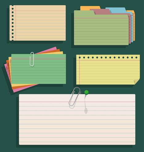 Group Of Index Cards - Vector