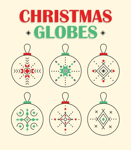 Gratis Jul Glober Vector