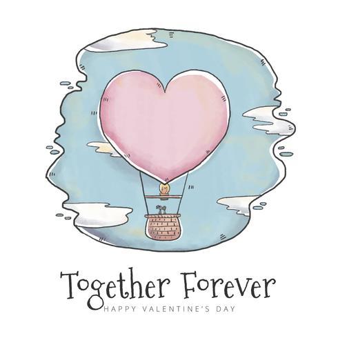 Gullig luftballong med hjärtform i Skype