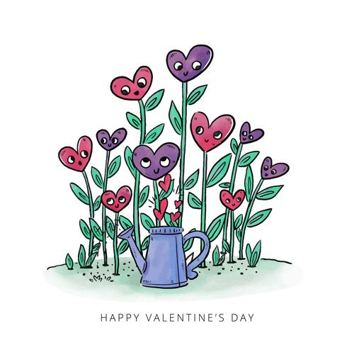 Cute Garden Plants With Hearts To Valentine's Day