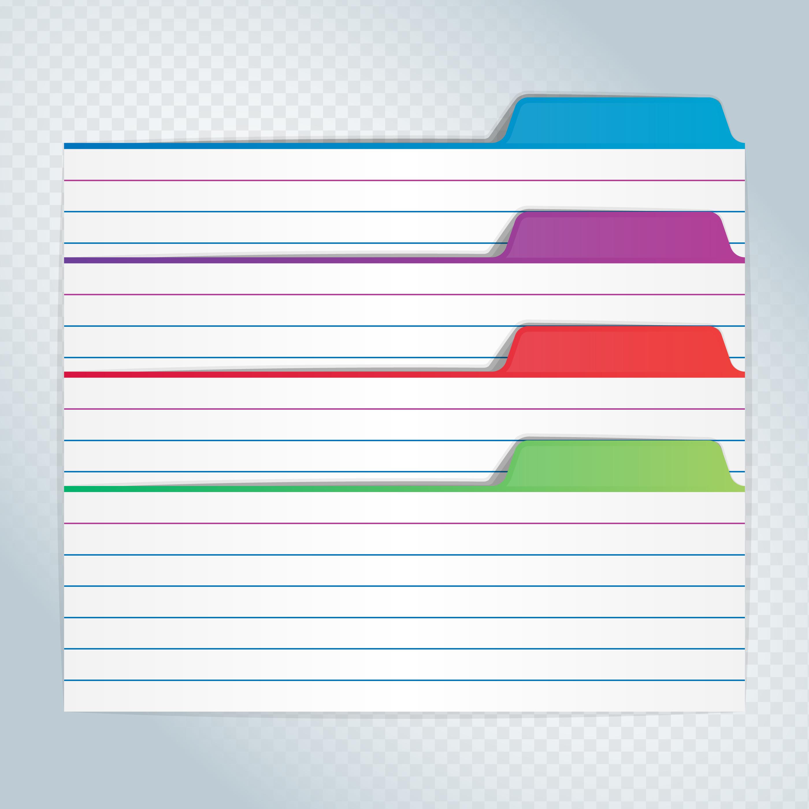 Marcadores coloridos del archivo de la ilustración del índice de la ...