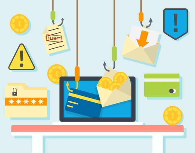 Gratis iconische phishing-vectoren vector