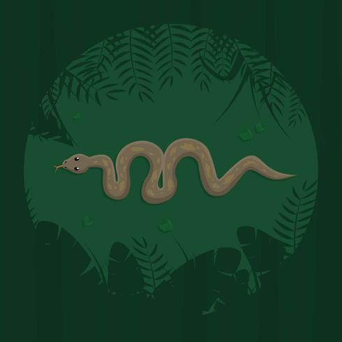 Free Anaconda From Top View Illustration vector