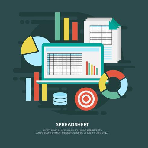 Spreadsheet Vector Illustration